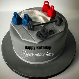 Gym Lover Fondant Cake